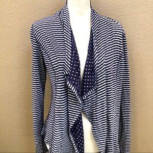 Market & Spruce polka dots drape blazer Sz medium